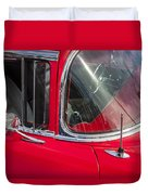 1957 Chevy Bel Air Chrome Duvet Cover