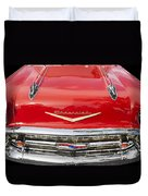 1957 Chevy Front End Duvet Cover