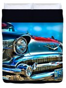 1957 Chevy Grille Duvet Cover