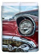 1957 Chevy - My Classic Car Duvet Cover