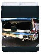 1957 Chevy Rear View Car Art Duvet Cover