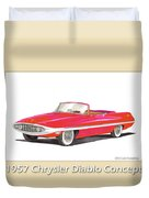 1957 Chrysler Diablo Convertible Coupe Duvet Cover by Jack Pumphrey