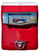1957 Ford Custom 300 Series Ranchero Emblem Duvet Cover