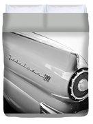 1957 Ford Fairlane 500 Taillight Emblem Duvet Cover