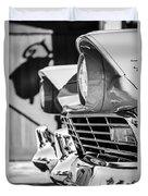 1957 Ford Fairlane Grille -205bw Duvet Cover