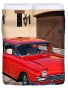 1957 Ford Fairlane Duvet Cover