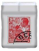 1957 German Democratic Republic Chemist Stamp Duvet Cover