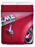 1957 Gmc V8 Pickup Truck Gmc Hydra-matic Emblem Duvet Cover