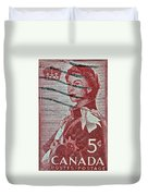 1957 St. Lawrence Seaway Opening Stamp Duvet Cover