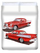 1957 Studebaker Silver Hawk Duvet Cover
