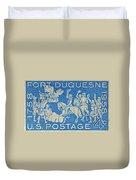 1958 Battle Of Fort Duquesne Stamp Duvet Cover
