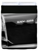 1958 Bmw 3200 Michelotti Vignale Roadster Grille Emblem -2467bw Duvet Cover