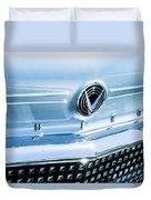 1958 Buick Roadmaster 75 Convertible Grille Emblem Duvet Cover