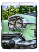 1958 Cadillac Headlights Duvet Cover