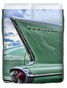 1958 Cadillac It's All In The Fin. Duvet Cover