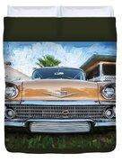 1958 Chevrolet Bel Air Impala Painted   Duvet Cover