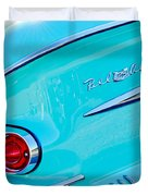 1958 Chevrolet Belair Taillight 2 Duvet Cover