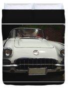 1958 Chevrolet Corvette Duvet Cover