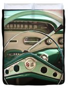 1958 Chevrolet Impala Steering Wheel Duvet Cover