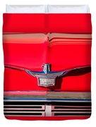 1958 Chrysler Imperial Crown Convertible Emblem Duvet Cover