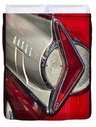 1958 Edsel Wagon Tail Light Duvet Cover by Jill Reger