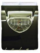 1958 Ford Fairlane 500 Victoria Hood Ornament Duvet Cover