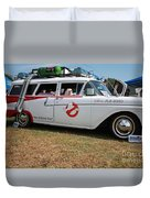 1958 Ford Suburban Ghostbusters Car Duvet Cover