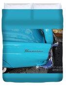 1958 Ford Thunderbird Detail Duvet Cover