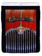 1958 Jaguar Xk150 Roadster Grille Emblem Duvet Cover by Jill Reger