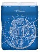 1958 Space Satellite Structure Patent Blueprint Duvet Cover
