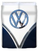 1958 Volkswagen Vw Bus Emblem Duvet Cover