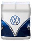 1958 Volkswagen Vw Bus Hood Emblem Duvet Cover
