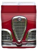1959 Alfa Romeo Giulietta Sprint Grille Duvet Cover by Jill Reger