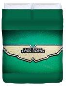 1959 Aston Martin Db4 Gt Hood Emblem -0127c Duvet Cover