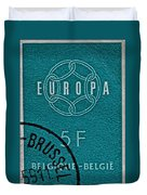 1959 Belgium Stamp - Brussels Cancelled Duvet Cover