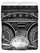 1959 Buick Lasabre Steering Wheel Duvet Cover