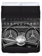 1959 Buick Lasabre Steering Wheel Duvet Cover by Jill Reger