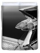1959 Cadillac Eldorado Taillight -075bw Duvet Cover