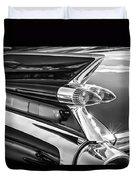 1959 Cadillac Eldorado Taillight -097bw Duvet Cover