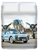 1959 Chevrolet Corvette Duvet Cover