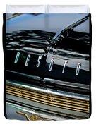 1959 Desoto Adventurer Hood Emblem Duvet Cover by Jill Reger