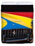 1959 Ferrari 250 Gt Coupe Grille Emblems Duvet Cover