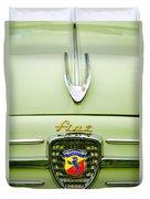 1959 Fiat 600 Derivazione 750 Abarth Hood Ornament Duvet Cover