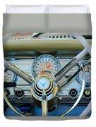1959 Ford Thunderbird Convertible Steering Wheel Duvet Cover