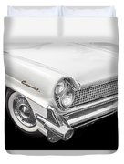 1959 Lincoln Continental Chrome Duvet Cover