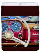 1959 Mercedes-benz 190 Sl Steering Wheel Duvet Cover