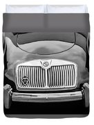 1959 Mg A 1600 Roadster Front End -0055bw Duvet Cover