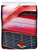 1960 Aston Martin Db4 Grille Emblem Duvet Cover