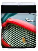 1960 Aston Martin Db4 Gt Coupe' Grille Emblem Duvet Cover by Jill Reger