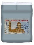 1960 Boy Scouts Stamp Duvet Cover